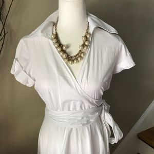Double Zero Vintage White Cotton Skater Dress